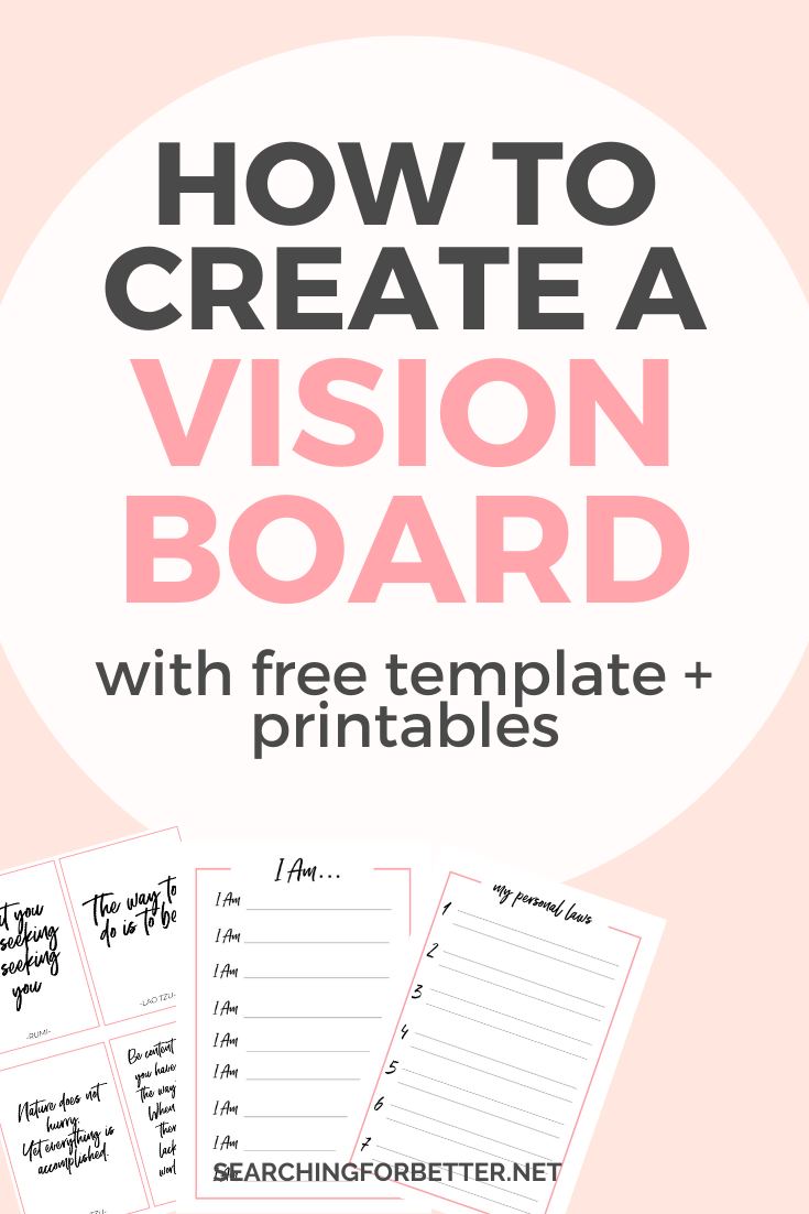 Creating A Vision Board 2020 With Free Vision Board Template Printables Sfb Collective Free Vision Board Template Creating A Vision Board Vision Board Template