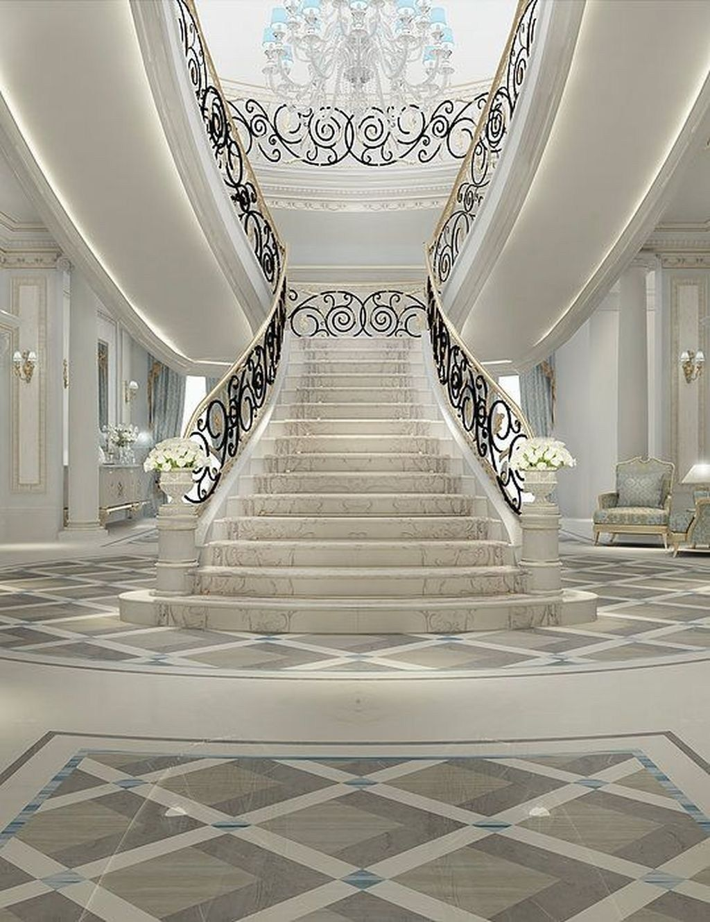 Best 30 Luxurious Grand Staircase Design Ideas For Amazing 640 x 480