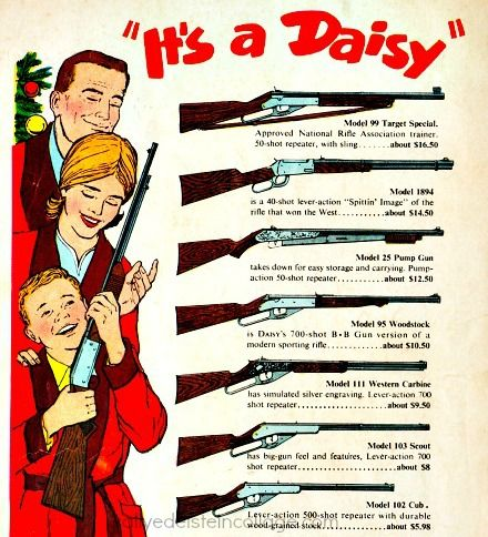 Vintage Xmas Ad Daisy Rifles 1960s  I got a Red Ryder when I was 8!! is part of Vintage christmas toys -
