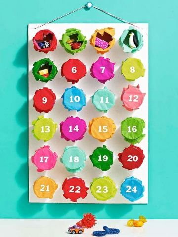 Colorful Christmas Advent calendars, Creative and Holidays