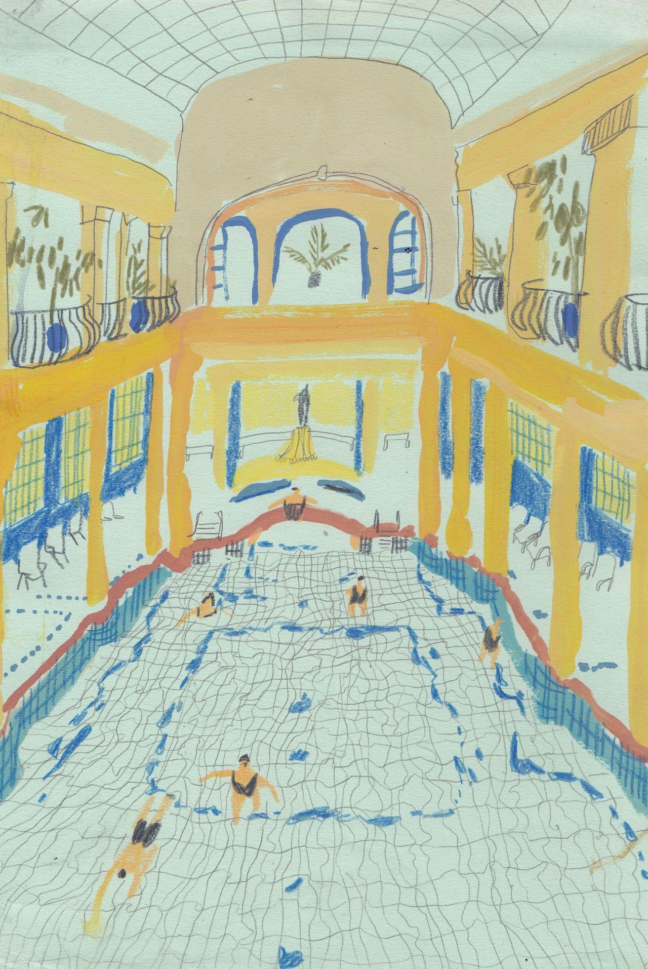 Charlotte Ager Amazing Pool Sketch Journal Love Ilration Art Inspo