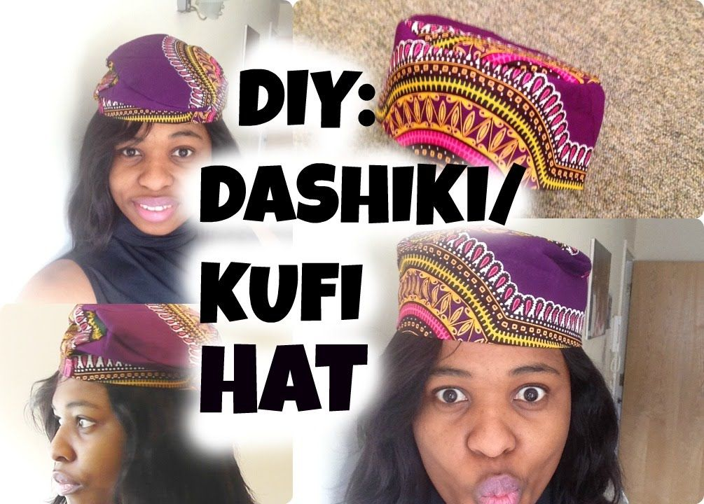 Diy How To Sew A Hat African Kufi Hat Black Panther Hat African Hats Black Panther Hat Hat Patterns To Sew