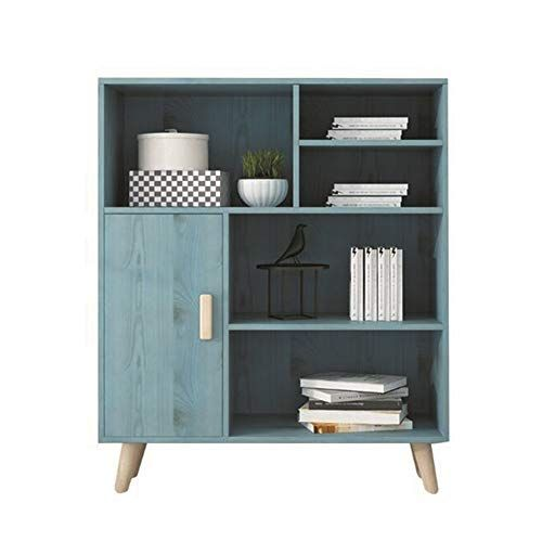 YQQ-Shelf Simple Bookshelf Storage Cabinet Free Standing