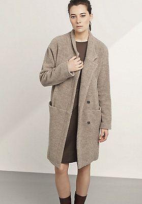 wie kommt man größte Auswahl an Bestbewertete Mode Damen Wollfleece-Mantel aus reiner Schurwolle | NEED | Coat ...