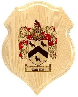 $34.99 Lawson Coat of Arms Plaque / Family Crest Plaque