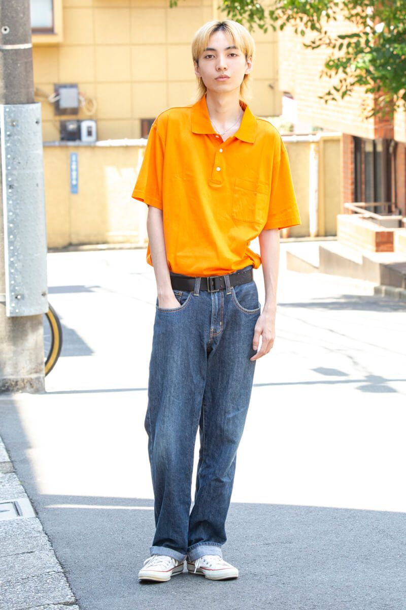 鮮やかなオレンジに一目惚れしたトップス ファッション ママの