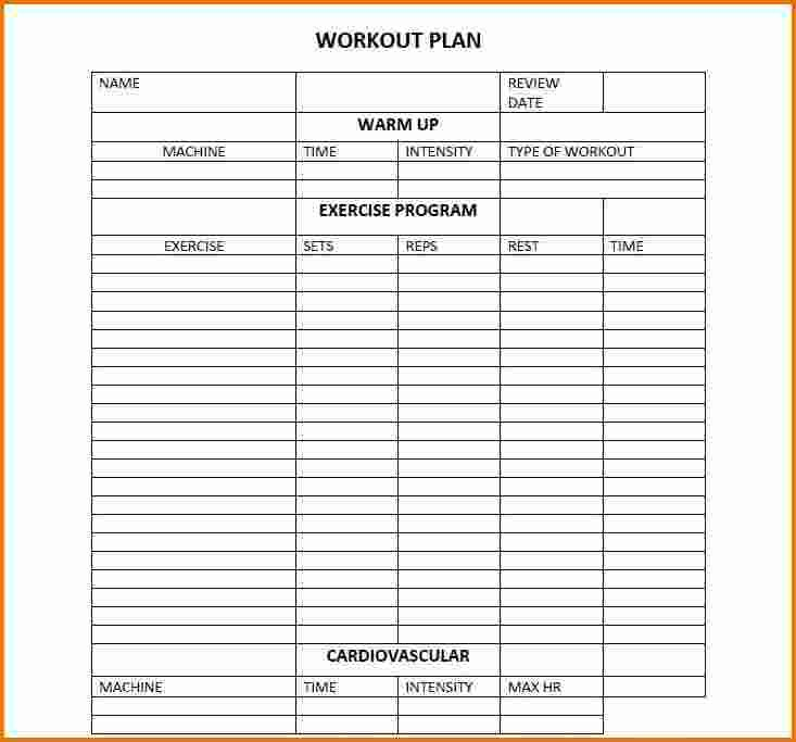 Workout Calendar Template Word 2018 Calendars Pinterest
