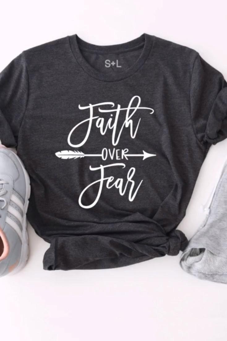 Faith Over Fear Women's Workout Shirt    Christian