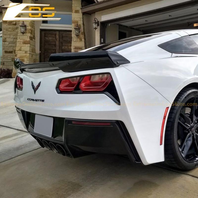 Corvette C7 Carbon Flash Stage 2 Rear Spoiler Side Skirts Front Splitter Extremeonlinestore Corvette C7 Corvette Corvette C7 Stingray