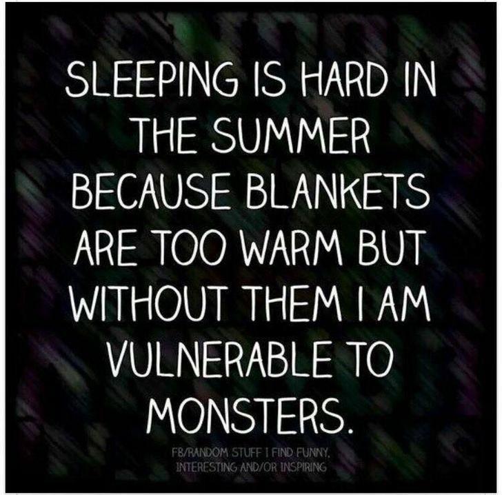 Sleeping in summer