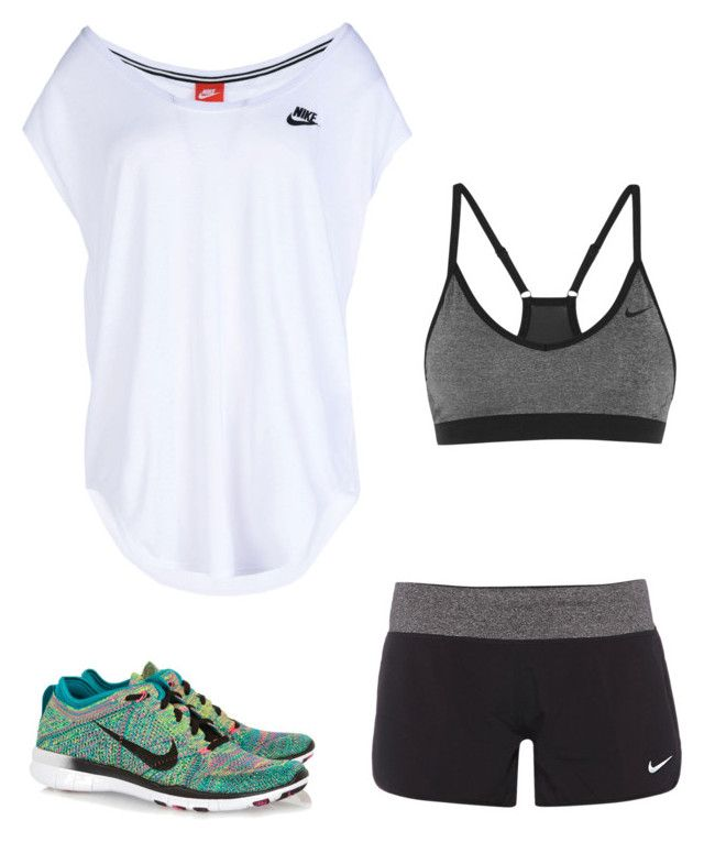 """""""Untitled #334"""" by carolinamcury ❤ liked on Polyvore featuring NIKE, women's clothing, women, female, woman, misses and juniors"""