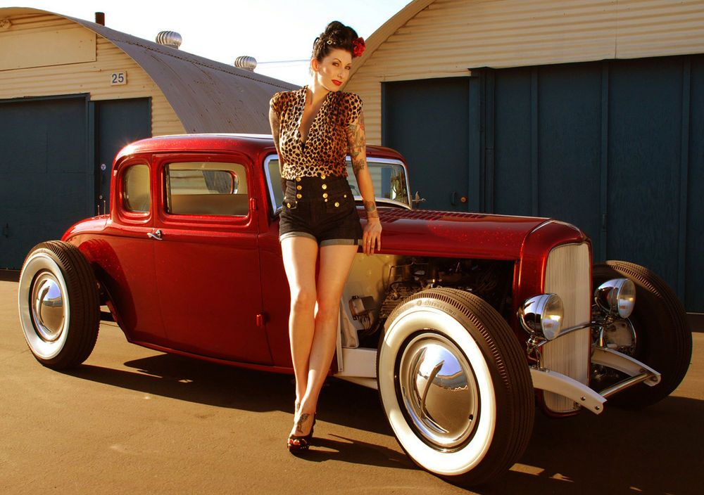 Gannies hot rods and pimped girls