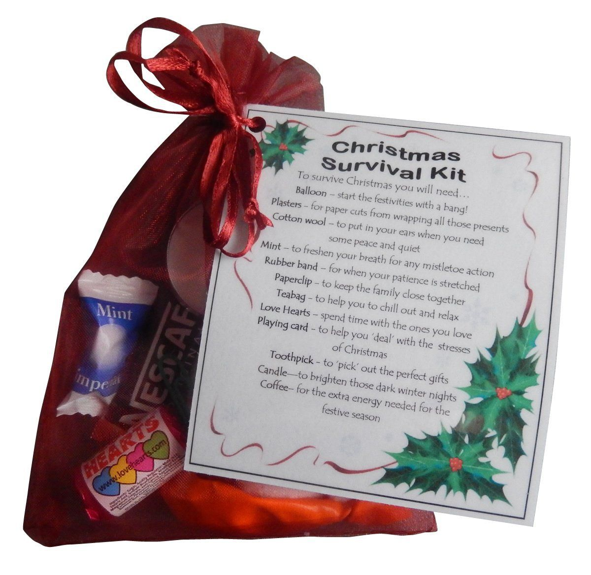 Christmas Survival Kit Great Stocking Filler Or Secret Santa Gift Amazon Co Uk Kitchen Home Smile Gift Uk Christmas Gifts Secret Santa Gifts