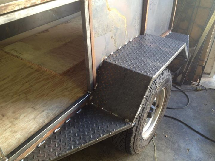 Homemade OffRoad Trailers Doors welded just waiting for
