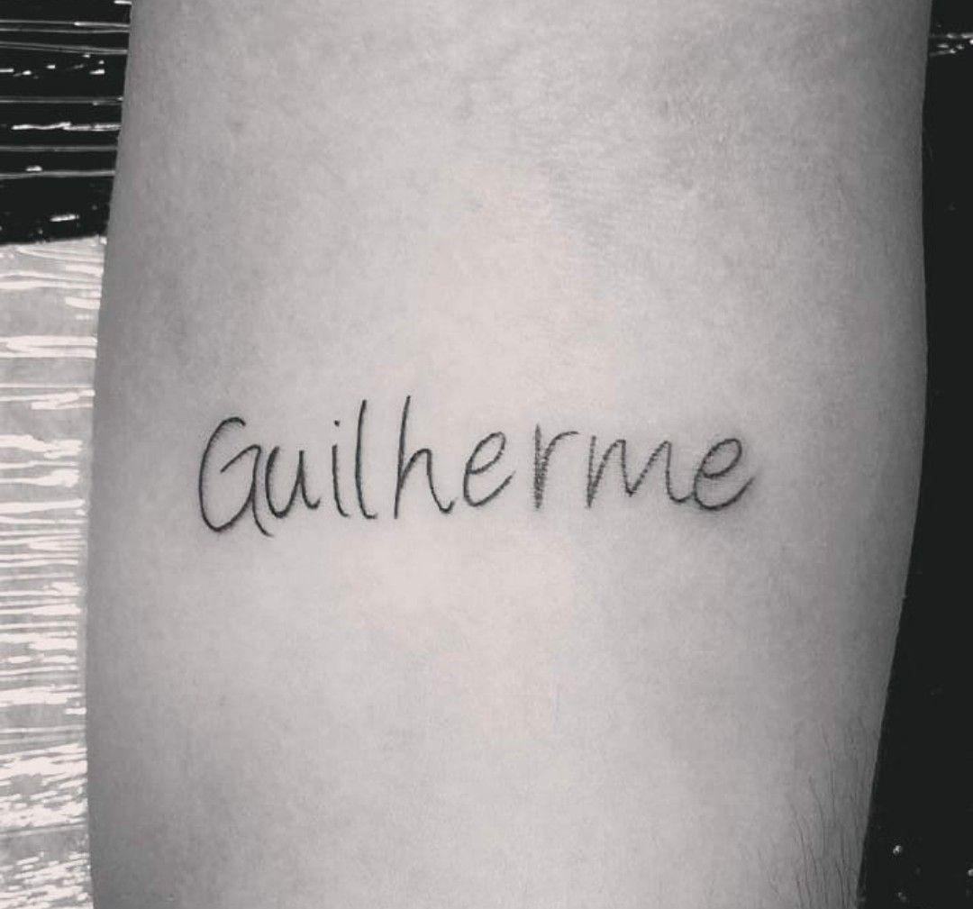 Tattoo Com Nome Do Filhote Lovetattoo Terone Filho