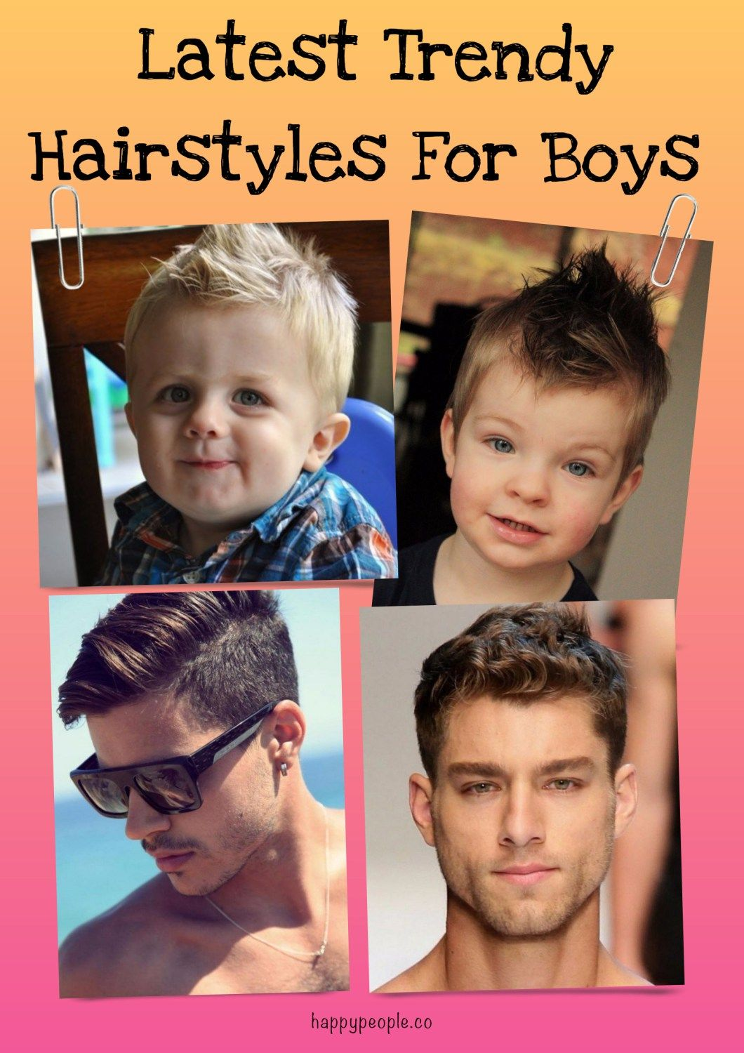 Latest Trendy Hairstyles For Boys