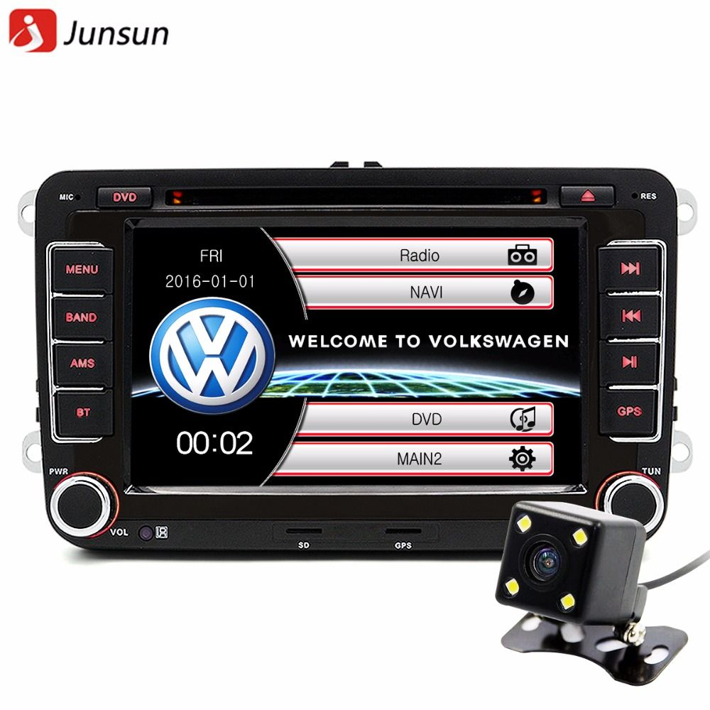 junsun 7 2 din voiture dvd gps radio player pour. Black Bedroom Furniture Sets. Home Design Ideas