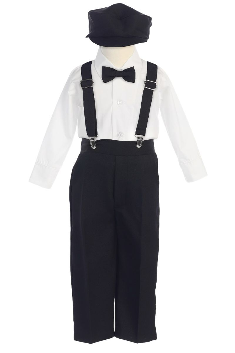 "USA /""BLACK/"" Matching Suspender /& Bow-Tie Set Kids Toddler Baby Boys Girls"