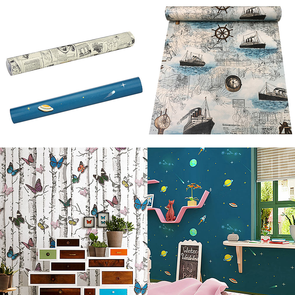 Wall Stickers Background Decors Room Kitchen Bathroom Adhesives Acrylic Display