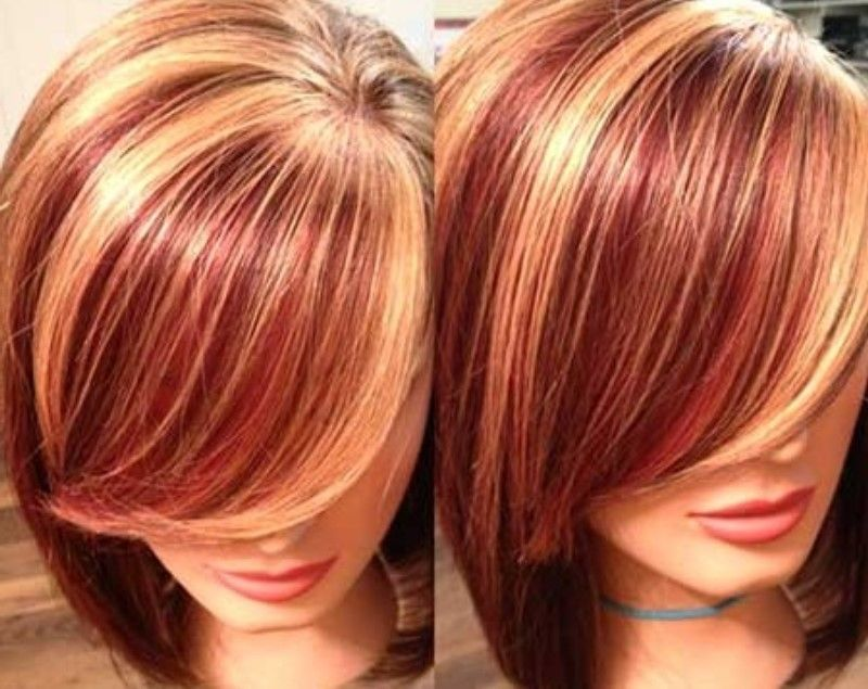 Two Color Hair Styles: Hair Color Ideas, Two Tone Hair Color Brown And Red 2015