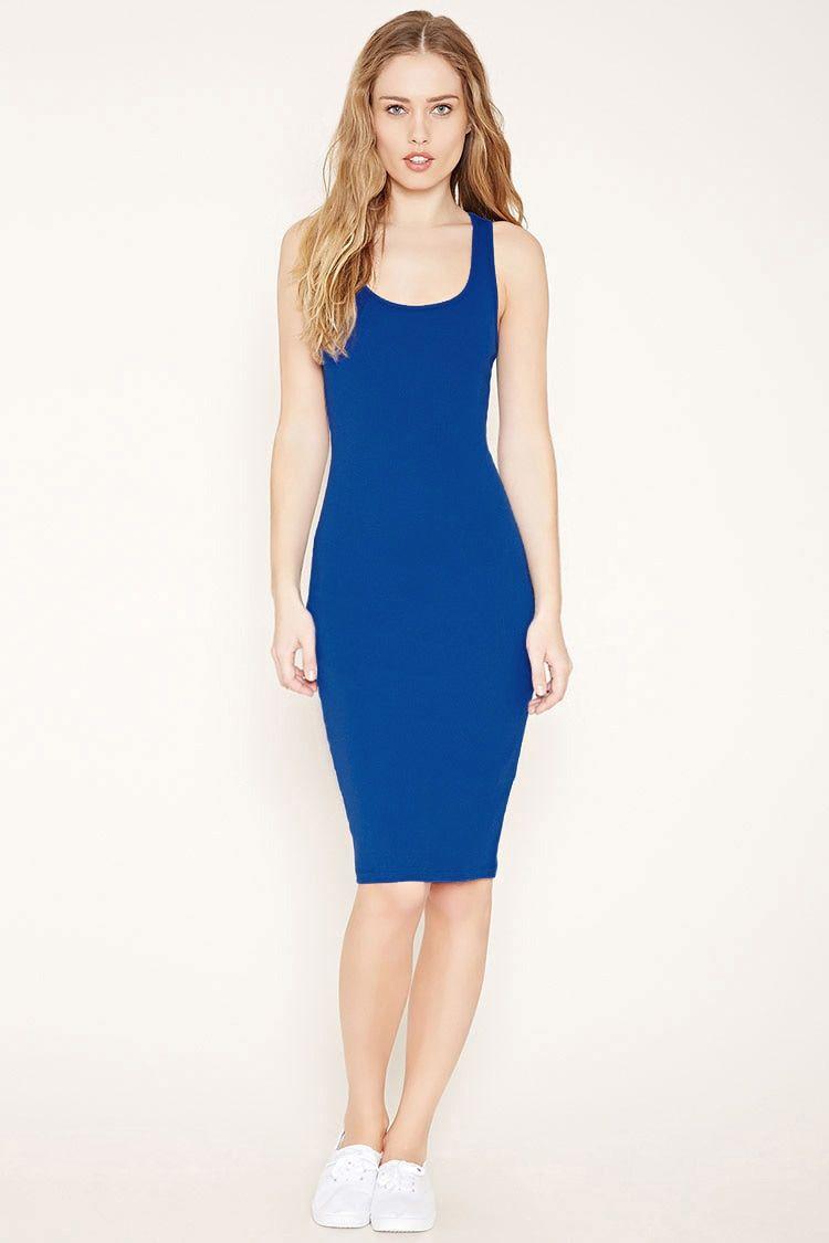 bcb88d85efa royal blue bodycon dress forever 21 Naf Dresses