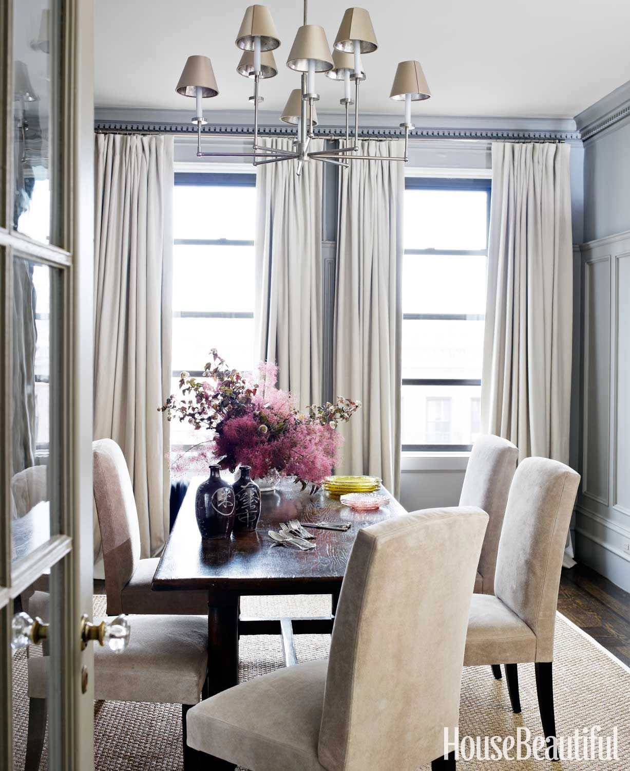 House Beautiful Dining Rooms Gorgeous A Soulful Manhattan Apartment With Rich Moody Color  Upholstery 2017