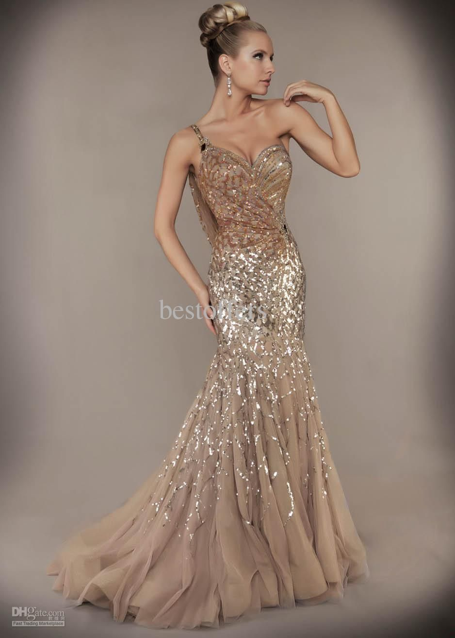 Wholesale evening dresses buy custom made sexy one shoulder