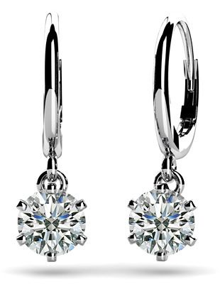 Six G Solitaire Diamond Drop Earrings These Are Perfect