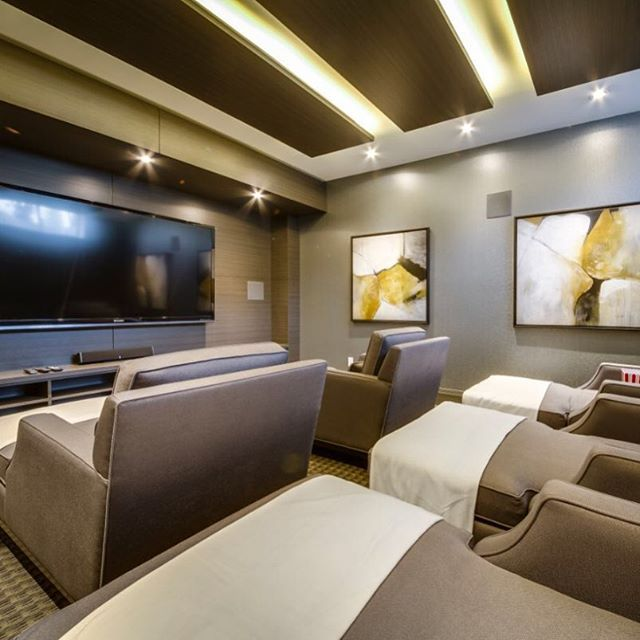 """Cozy Home Theater: @khl.ca's Photo: """"Looking Back On A Theatre Room We"""