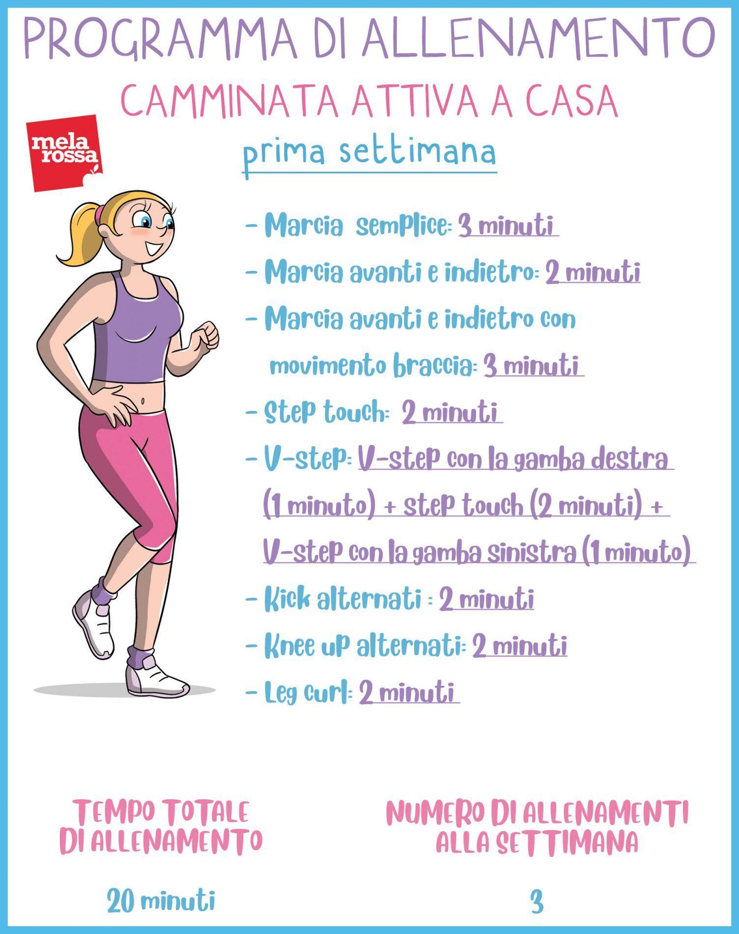 spesso Programma di camminata attiva da fare casa - Melarossa UU01
