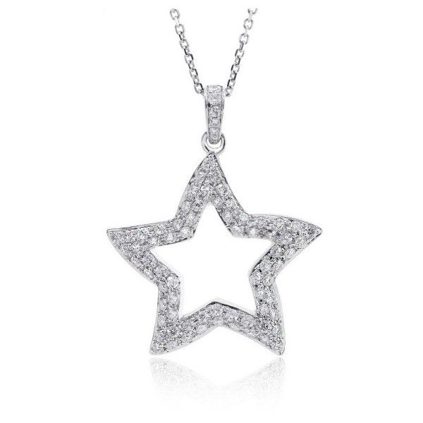 Pre owned 18k white gold star diamond pendant necklace 1290 pre owned 18k white gold star diamond pendant necklace 1290 liked aloadofball Image collections