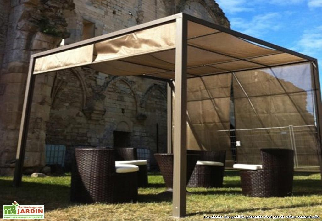 tonnelle pergola aluminium brise soleil 3x3 capuccino tonnelles pinterest tonnelle pergola. Black Bedroom Furniture Sets. Home Design Ideas