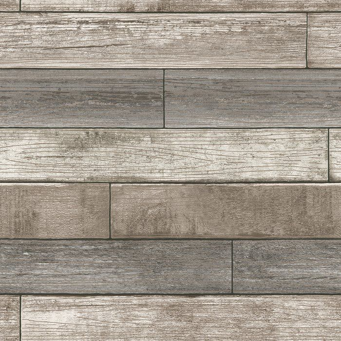 Enjoy The Beauty Of A Chic Reclaimed Wood Wall With This Stunning Peel And Stick Wallpaper Design That Wood Plank Wallpaper Wood Wallpaper Peel And Stick Wood