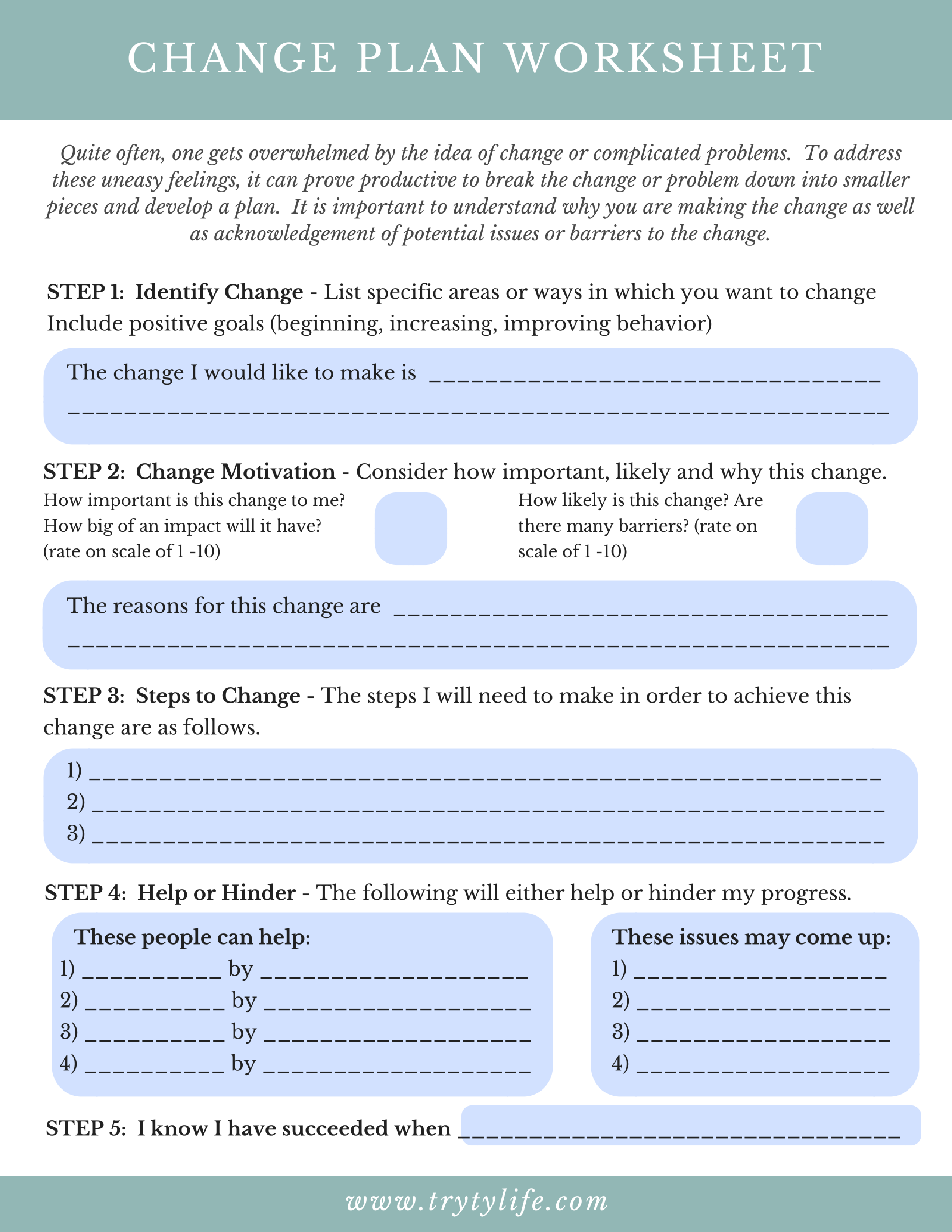 worksheet Change Plan Worksheet pin by cygnus fogle on w o pinterest worksheets and therapy ideas ideas