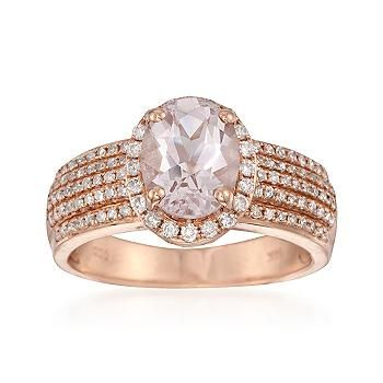 Ross-Simons - 1.50 Carat Oval Morganite and .50 ct. t.w ... - photo #3