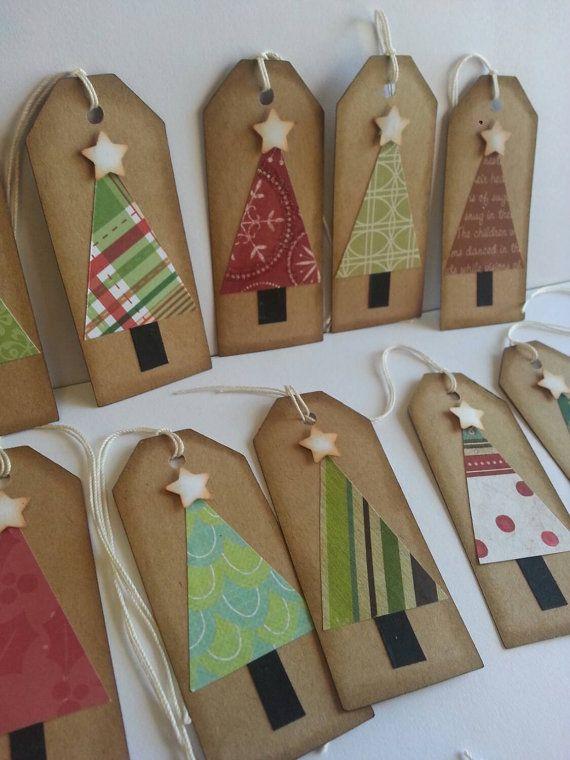 Christmas tree tags, Christmas tags, Holiday tags, Gift tags, Rustic Christmas tags #rusticchristmas