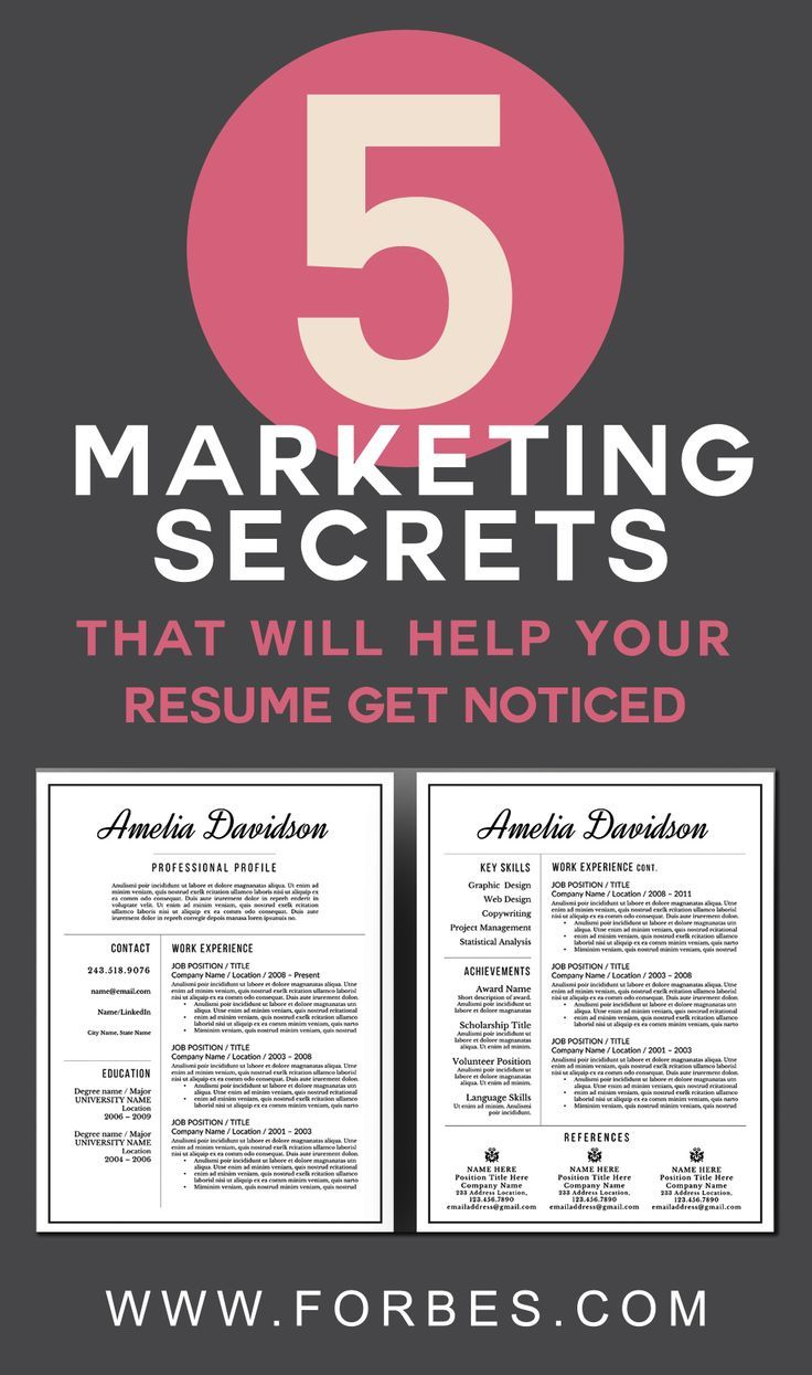 5 Marketing Secrets That Will Help Your Resume Get Noticed ...