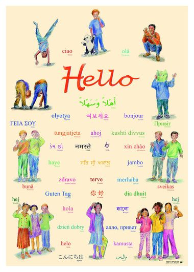 Say hello in 36 different languages with this welcoming poster say hello in 36 different languages with this welcoming poster m4hsunfo