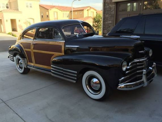 Rare Woody Two Owner 1948 Chevrolet Fleetline Aerosedan