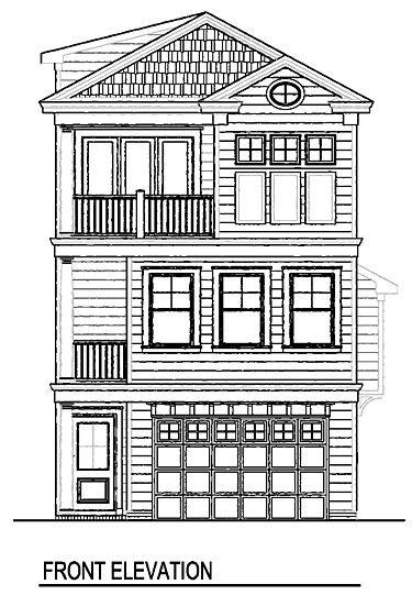 Coastal Home Plans - Bergen Place