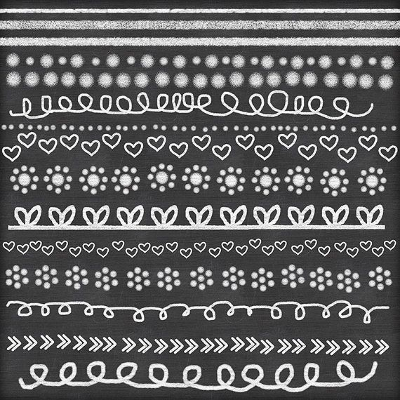 chalk clipart doodle chalk borders lines hand drawn chalk clip ...