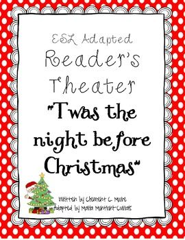 The Night Before Christmas Adapted Reader's Theater | Readers ...