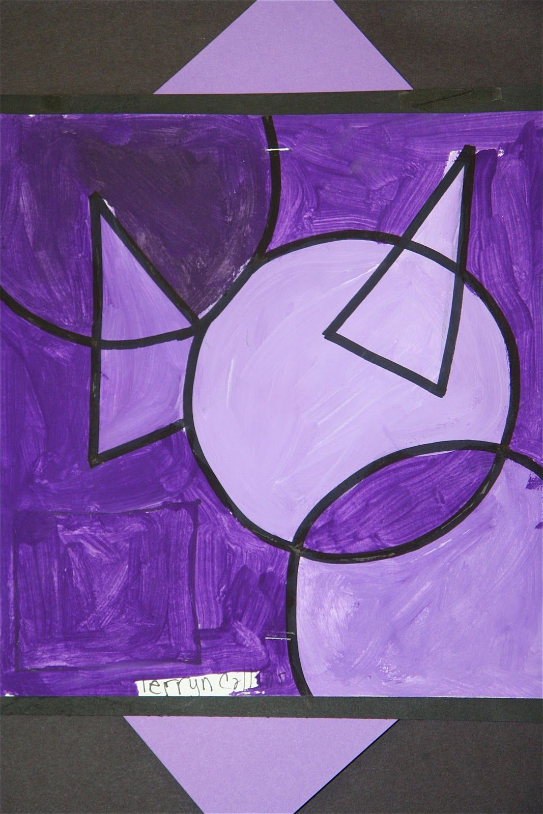 Monochromatic Paintings: 4th graders were studying the color wheel, mixing  colors & color theory