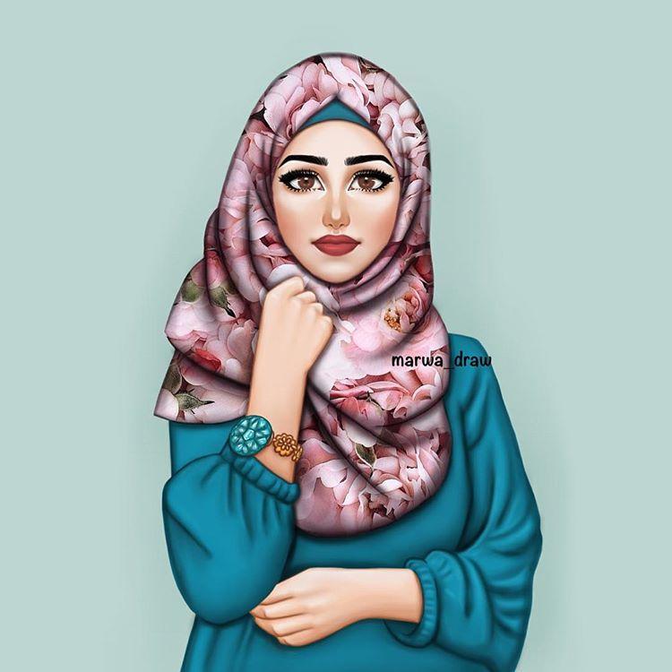 Красивые картинки мусульманок нарисованные