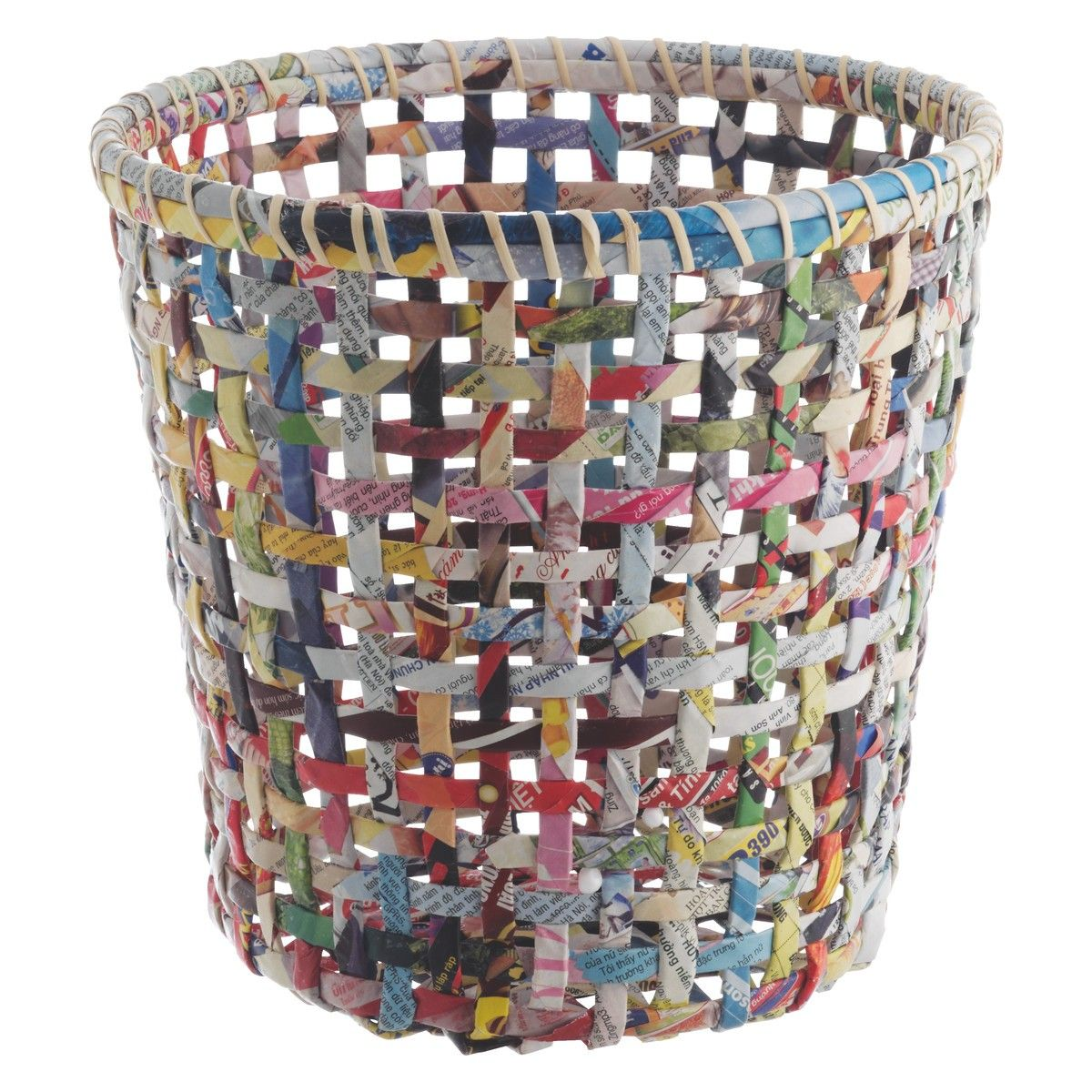 how to make a waste paper bin