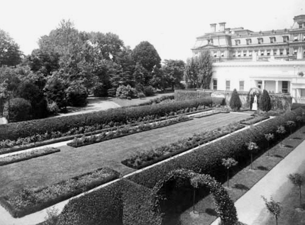 The White House Rose Garden installed by Ellen Wilson