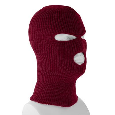 Mens winter and snow hats and womens winter hats available in various  colors. Special Order(3-4 Weeks) Superstretch Burgundy Full Face Ski Mask -  Single ... 6a0f357df26a