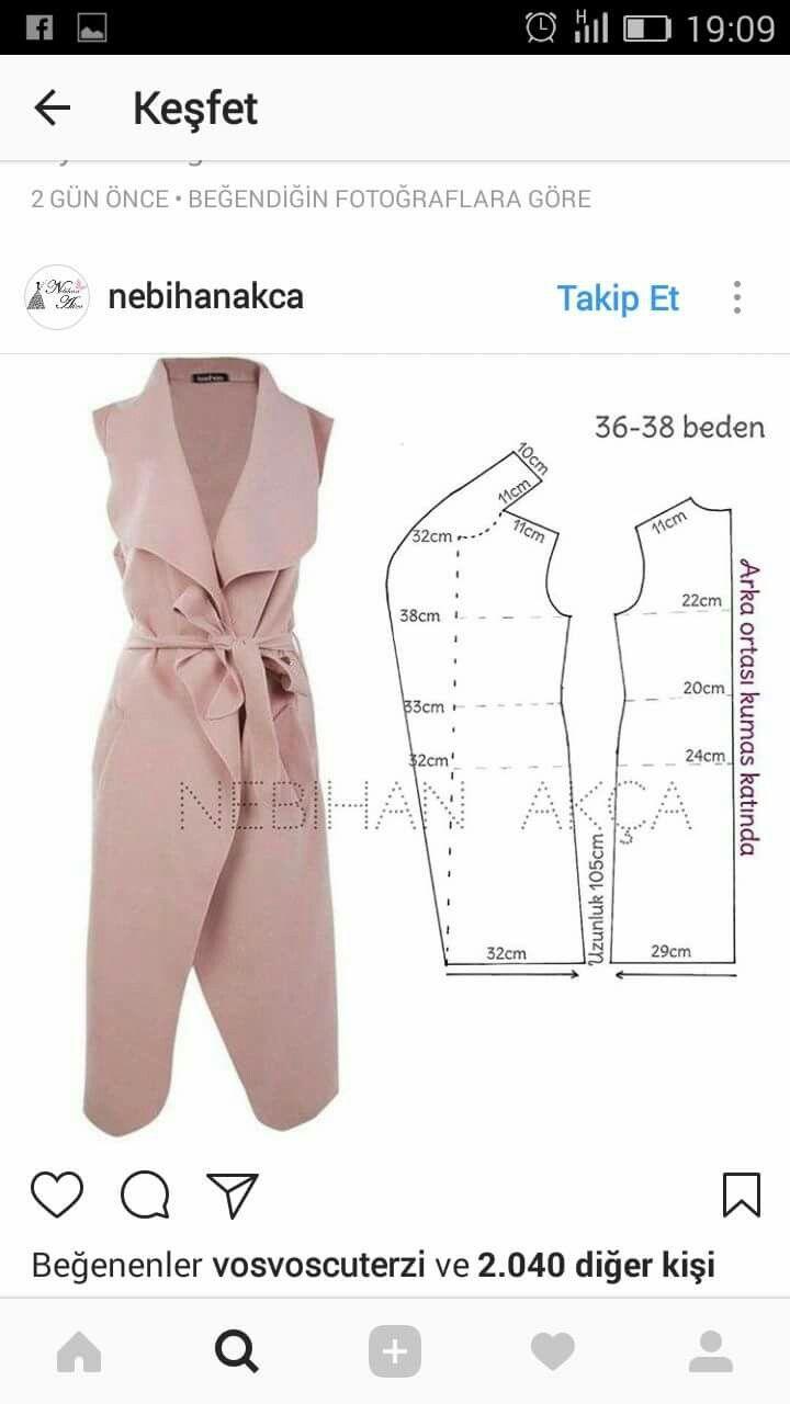 Pin de Sarah Bernabé en Patrones abrigos | Pinterest | Escote ...