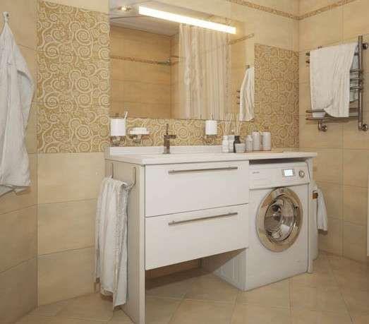 Bagno piccolo con lavatrice - Soluzione salvaspazio per bagno con ...
