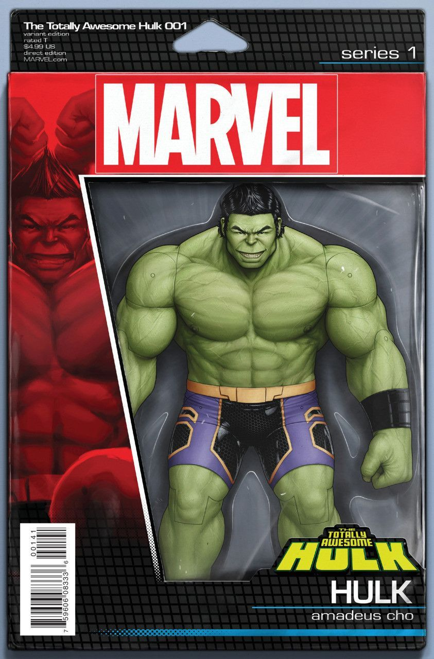 Marvel the totally awesome hulk 1 hulk amadeus cho action marvel the totally awesome hulk 2016 1 action figure variant cover publicscrutiny Images